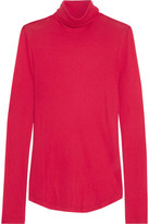 J.Crew Tencel And Cashmere-blend Turtleneck Sweater - Crimson