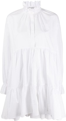 Philosophy di Lorenzo Serafini Ruffle Neck Shirt Dress