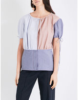 J.W.Anderson Patchwork-panel cotton-chambray top