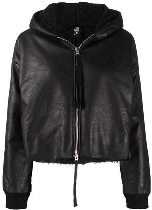 Thom Krom Cropped Faux Leather Jacket