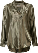 Nina Ricci metallic blouse - women - Silk/Viscose - XS