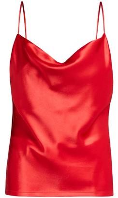 Galvan Whiteley Draped Satin Cami Top - Red