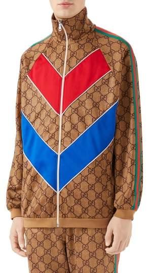 Gucci GG Supreme Print Tech Jersey Track Jacket