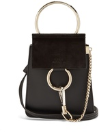 Chloé Faye mini suede and leather cross-body bag