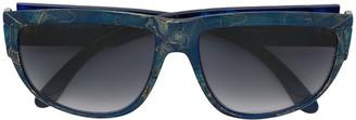 Saint Laurent Pre-Owned mosaic-effect gradient sunglasses