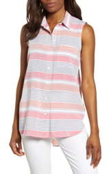 BeachLunchLounge Ana Sleeveless Stripe Shirt