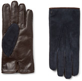 Tod's - City Cashmere-lined Suede And Leather Gloves