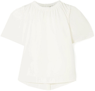 Sea Luna Cotton-blend Poplin Blouse