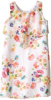 Us Angels Floral Chiffon Sleeveless Popover w/ Flare Skirt (Big Kids)