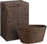 Pier 1 Imports Carson Espresso Wicker Hamper & Laundry Basket