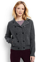 Classic Women's Cozy Shaker Sweater Jacket-White
