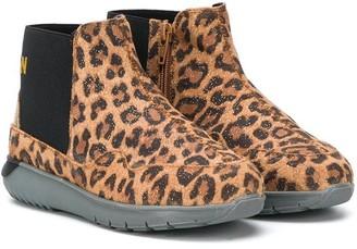 Hogan Leopard-Print Ankle Boots