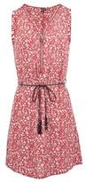 Dorothy Perkins Womens Izabel London Red Floral Print Zip Front Dress, Red