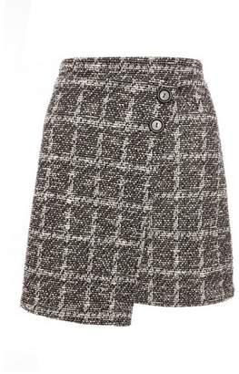 Dorothy Perkins Womens *Quiz Black White Button Mini Skirt, Black