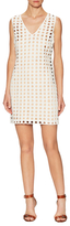 Tracy Reese Cotton Eyelet Front Shift Dress