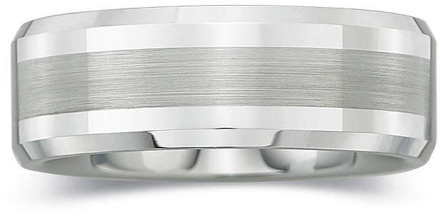 JCPenney MODERN BRIDE Personalized Mens 8mm Comfort Fit Satin Center Tungsten Carbide Wedding Band