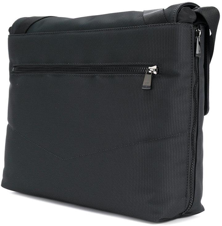 Emporio Armani laptop buckled bag