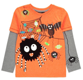 George Halloween Printed Long Sleeve Mock Layer Top