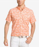Izod Men's Performance UPF 15+ Advantage Lobster-Print Cotton Shirt