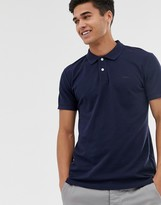 Esprit organic polo shirt in navy