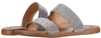 Steve Madden Dual-R Flat Sandal (Rhinestone) Women's Shoes