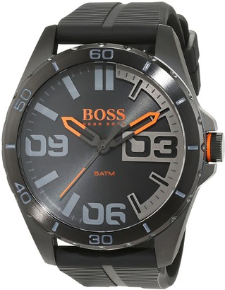 HUGO BOSS Orange Berlin Men's Quartz Analogue Classic Black Silicone Strap 1513452