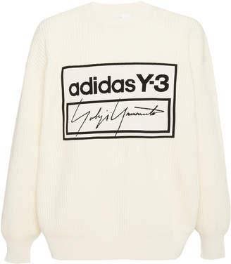 Y-3 Y 3 Logo Wool-Blend Sweatshirt