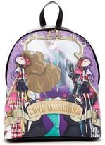 Love Moschino Cartoon Printed Backpack