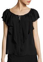 Kobi Halperin Venetta Off-The-Shoulder Silk Blouse