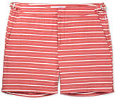 Orlebar Brown Bulldog Mid-length Striped Swim Shorts - Red