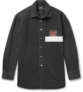 Raf Simons Appliquéd Denim Shirt
