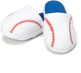 Blue & White Baseball Slipper