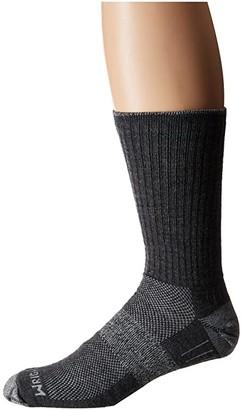 Wrightsock Merino Escape (Grey/Smoke) Crew Cut Socks Shoes