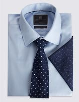 Marks and Spencer Pure Silk Spotted Tie & Pocket Square Set