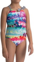 Big Chill One-Piece Palm Swimsuit - Fully Lined (For Little Girls)