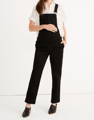 Madewell Maternity Straight-Leg Overalls in Carbondale Wash