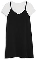 Aqua Girls' Overlay Tee Shirt Dress, Big Kid - 100% Exclusive