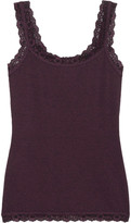 Hanky Panky Heather Lace-trimmed Stretch-jersey Camisole - Grape