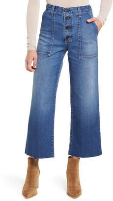 AG Jeans Etta Fatigue Button Fly Crop Flare Jeans