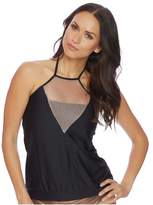 Luxe by Lisa Vogel Chain Reaction High Neck Tankini Top