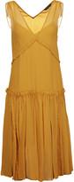 Marissa Webb Ruched pleated silk-gauze dress
