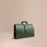 Burberry The Trench Leather Doctor's Bag with Alligator, Green