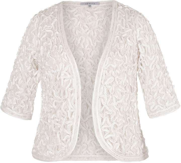 House of Fraser Chesca Satin Cornelli Lace Bolero