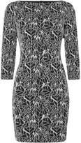 Armani Jeans 3/4 sleeve jacquard dress
