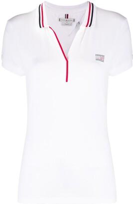 Tommy Hilfiger Rhinestone-Embellished Logo Polo Shirt