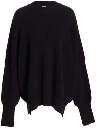 Free People Ribbed Mockneck Sweater