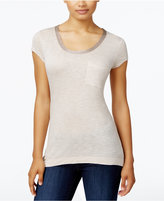 Calvin Klein Jeans Pocketed Metallic-Neck T-Shirt