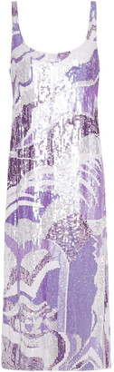 Emilio Pucci Open-back Sequined Tulle Midi Dress