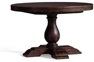 Pottery Barn Lorraine Round Pedestal Extending Dining Table - Hewn Oak