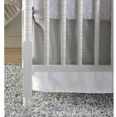 CoCalo Linen Crib Skirt in Grey